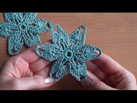 Crochet flower Tutorial Crochet motif Уроки вязания крючком Цветок - YouTube