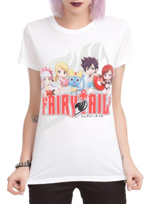 Fairy Tail Group Beach Girls T Shirt