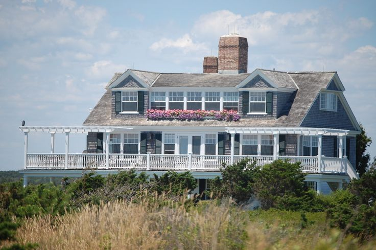 Beach House Mansion Cedar Shingle Hamptons Style