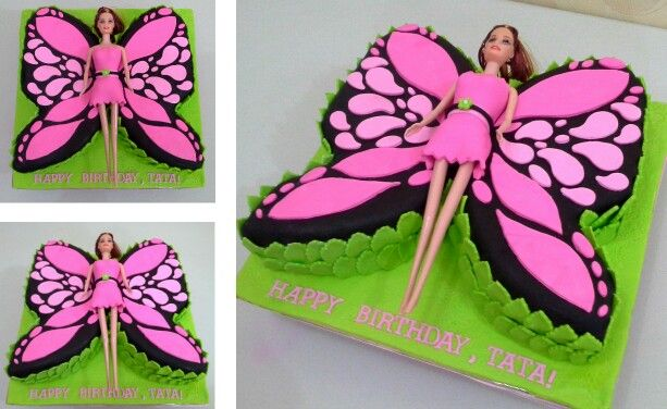 Butterfly Barbie Cake Images : 1000+ images about Mariposa birthday party on Pinterest ...