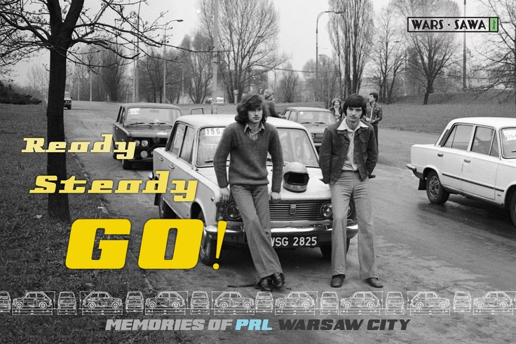 Ready Steady GO! Postcard by Wars Sawa Design, Warszawa, Warsaw, Memories of PRL.