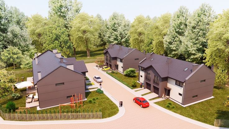 Small housing estate #vizualization . Feel free to ask for our #3d service. #render