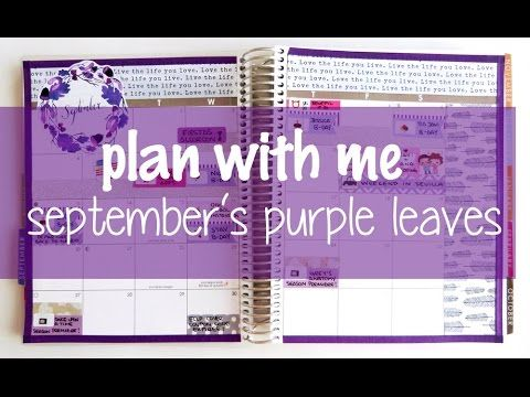 Plan With Me - September´s Purple Leaves