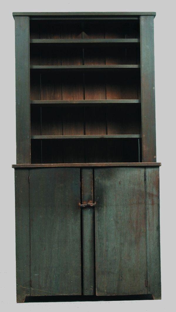 blue antique furniture. step back cupboard blue antique furniture d