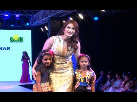 Sagarika Ghatge ramp walk for Smile Foundation.