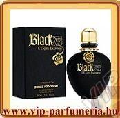 Paco Rabanne Black XS L'Exces Extreme női parfüm  Energia és életöröm érzése Az ellentétek varázslatos vonzása, a szerelem és rock egymásra találása határozza meg karakterét.   Az új limitált kiadásban kapható illat rendkívül biztos és érzéki alapokkal bír: ínyenc fekete vanília, varázslatos ámbra, és Mandragóra. A Black XS L'Exces Extreme szívjegyei a híres nagyböjti rózsa (hunyor) és a maszlag gyengédséget sugallnak, majd kiegészül a barack lágyságával. A parfüm nyitányában a narancs…