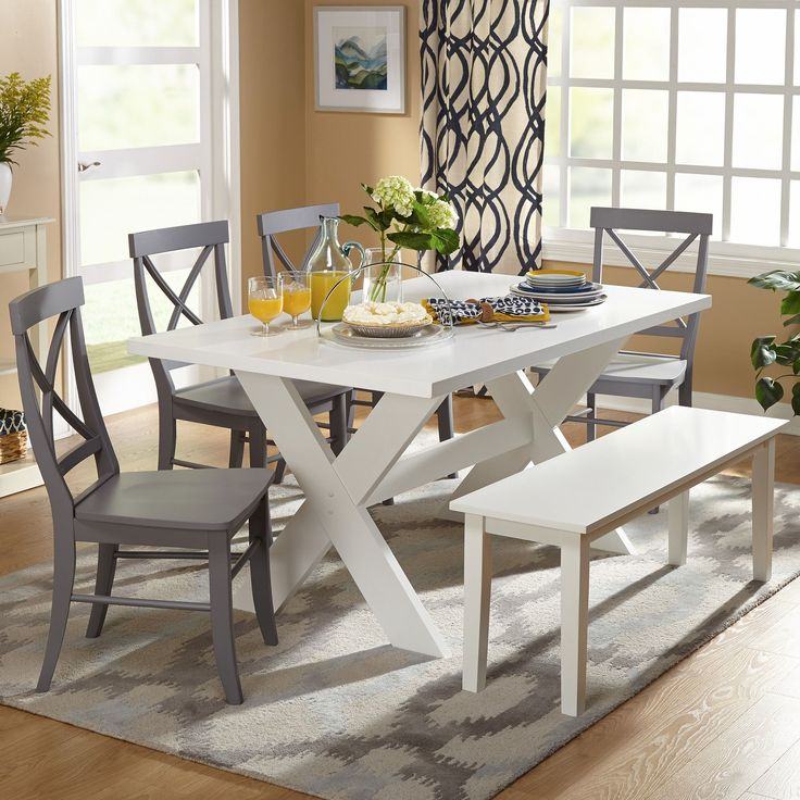 Best Dining Set With Bench Ideas On Pinterest Wood Tables