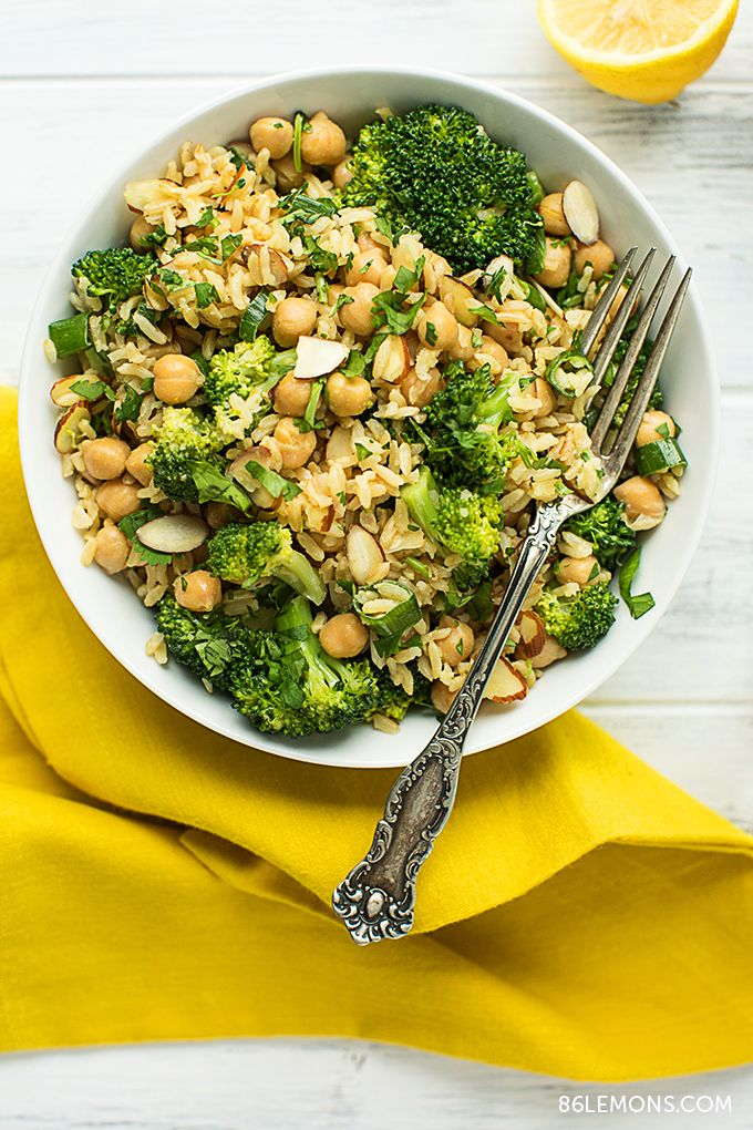 Broccoli Chickpea Rice Bowl (vegan, gluten-free) 01