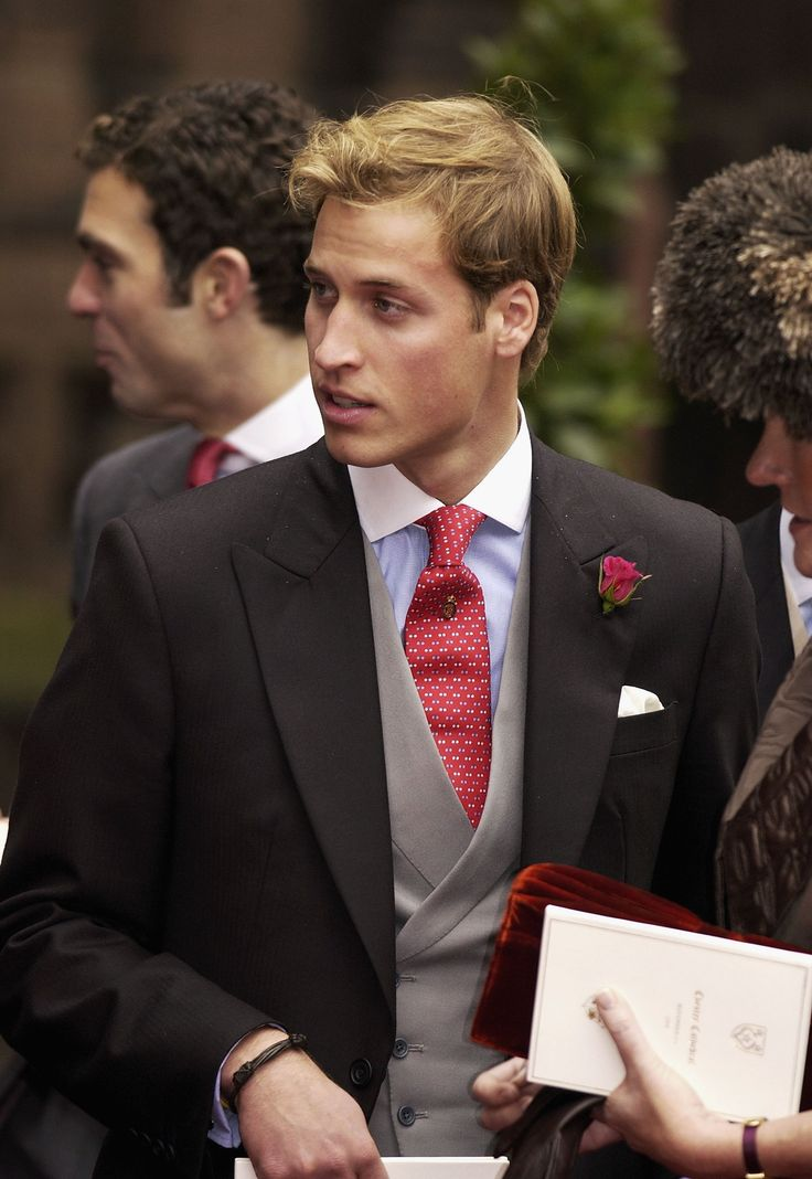 Prince William got dressed up for a wedding in November 2004.