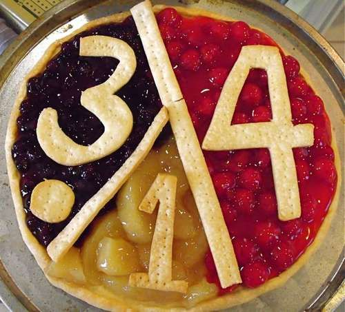 Fruit Pizza for PI Day!
