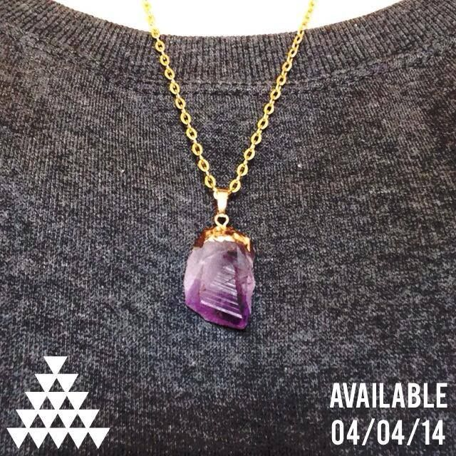 AMETHYST QUARTZ $22.00  7TH CHAKRA, CROWN (top of head) 6TH CHAKRA, THIRD EYE (pineal gland)  This Gemstone is a powerful protective stone that aids against psychic attack, blocks stress and promotes calming and clarity of the mind, and sharpens awareness.  This necklace comes in silver or gold color chain www.facebook.com/themysticpeach