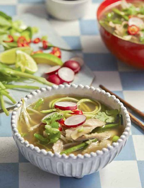 Vietnamese Chicken Pho with Courgette Noodles