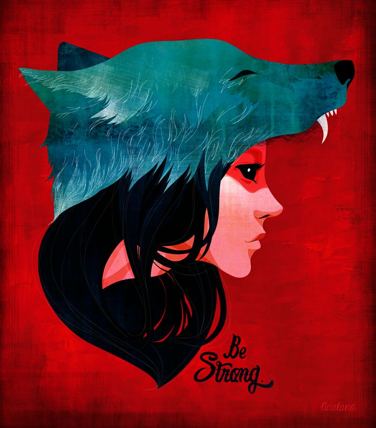 adaland.weebly.com  #adaland #wolfgirl #wolf #illustration #strong