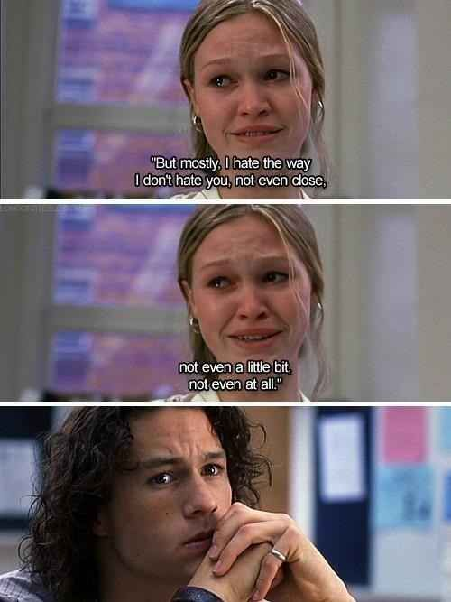 """20 Reasons """"10 Things I Hate About You"""" Is A Cinematic Masterpiece (BuzzFeed): my favourite movie of all time."""