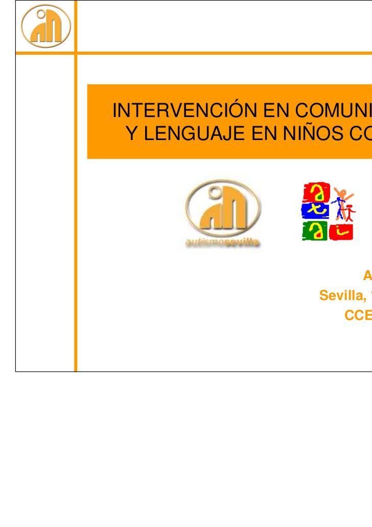 Intervención en Comunicación y Lenguaje en niños con TEA - Ana Molin…