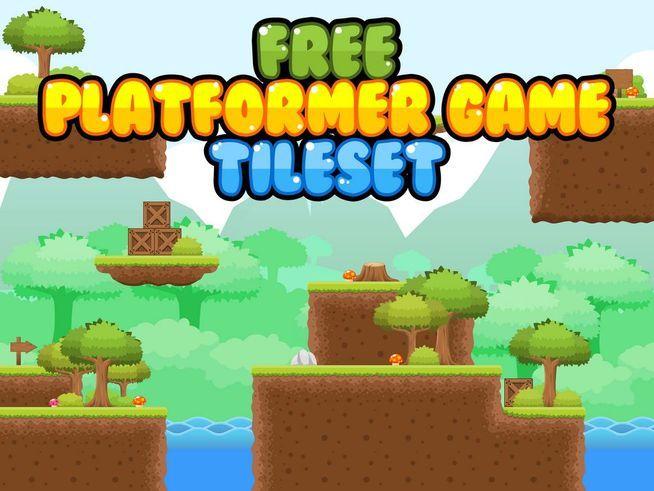 platformer game tileset free tiled assets 2d