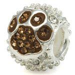 mount carmel paw slide bead.jpg #Mount #Carmel #bling #slide #bead