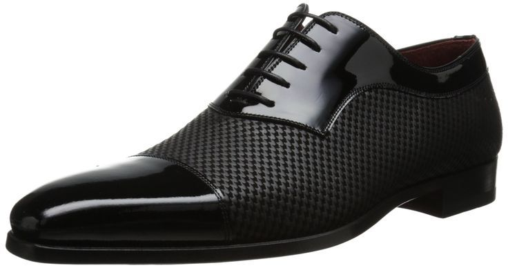 Magnanni Men's Tristan Tuxedo Oxford, Black - These shoes are badass - cheap mens dress shoes online, mens italian shoes, dressy mens shoes
