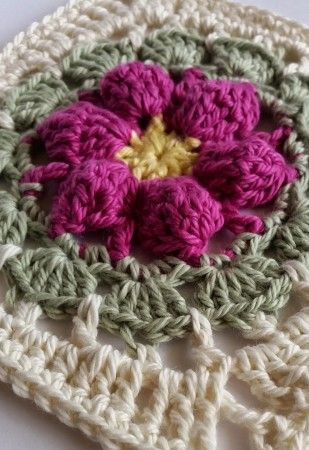 778 Best Crochet Squares Motifs With Flowers Images On Pinterest