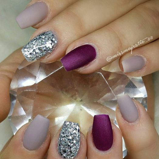 Matte LE Earl Grey and Vampy - The 25+ Best Plain Acrylic Nails Ideas On Pinterest Plain Nails