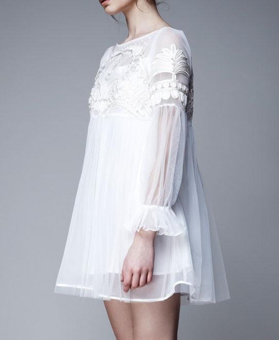 Retro White Lace Princess Dress