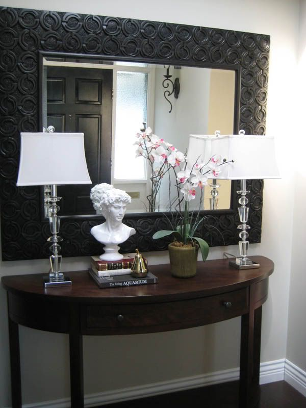 Entry table in foyer (could also do sconces)