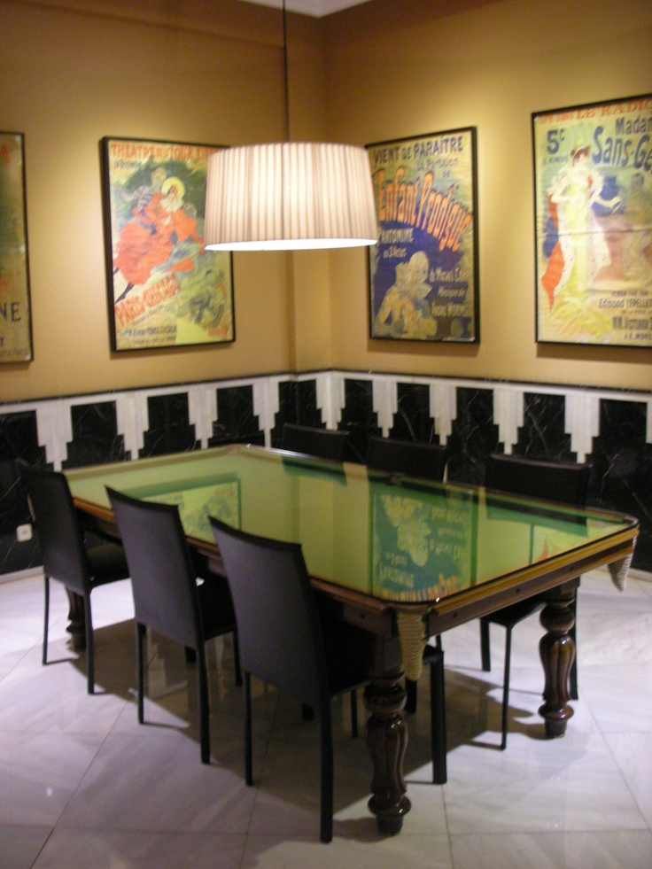 13 best images about pool table dining top on pinterest for Dining room game table