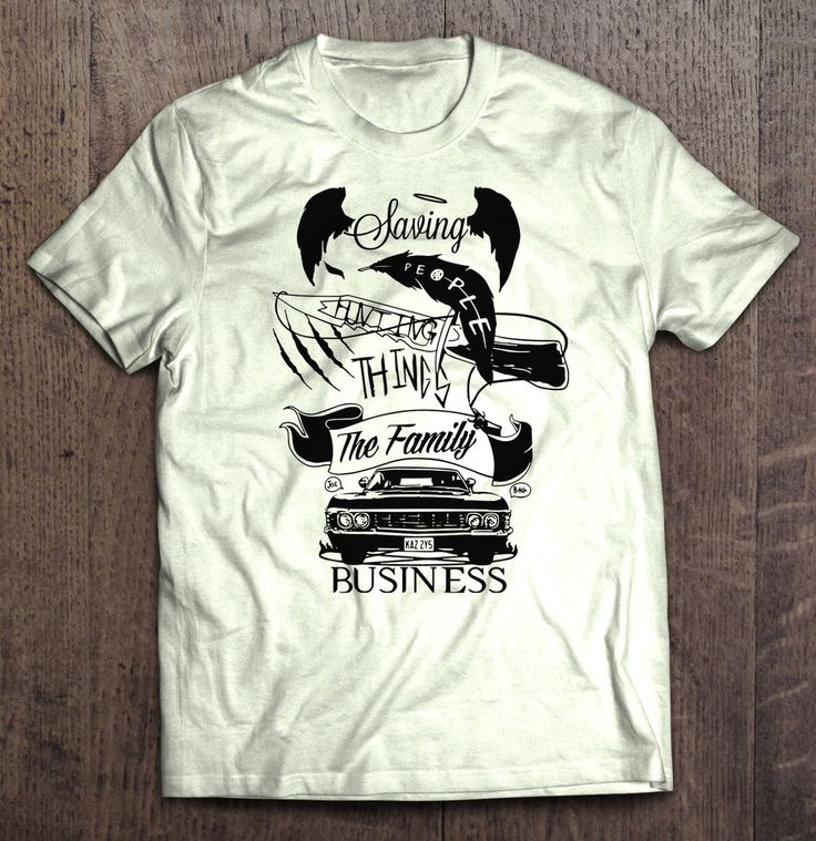 Supernatural - Saving People Hunting Things The Family Business T Shirt
