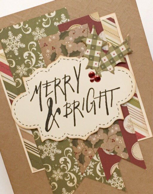 A personal favorite from my Etsy shop https://www.etsy.com/ca/listing/256834011/merry-bright-christmas-handmade-card