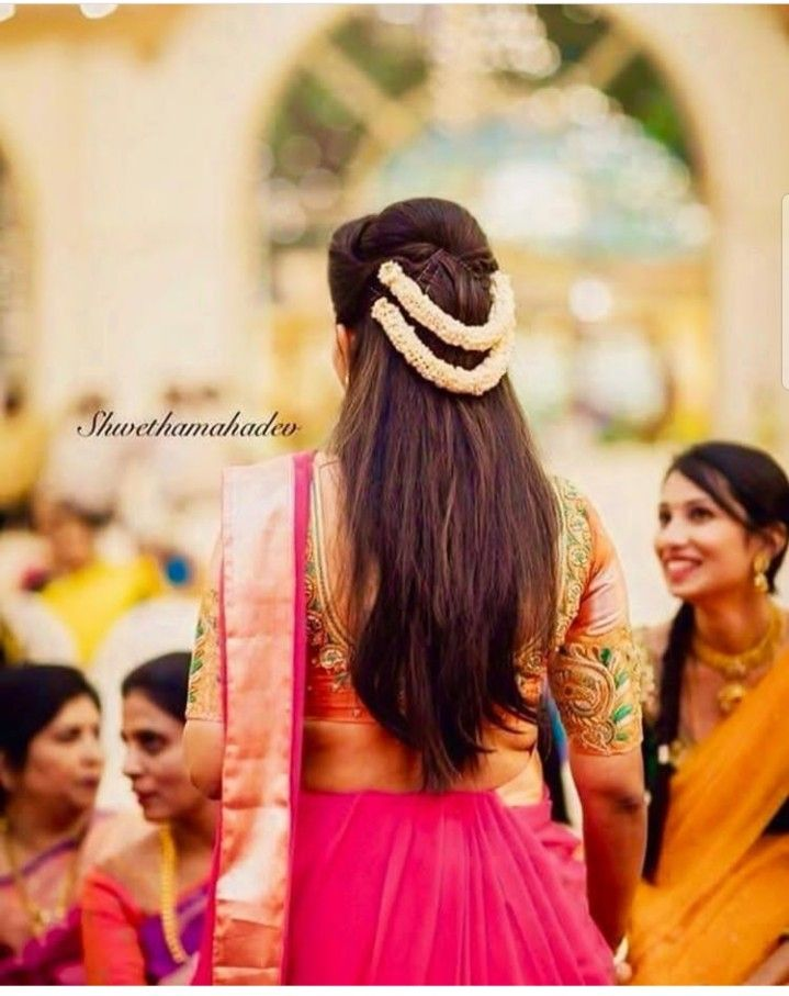 Pin By Aswany Mohan On Bridal Hair Style In 2019 Saree