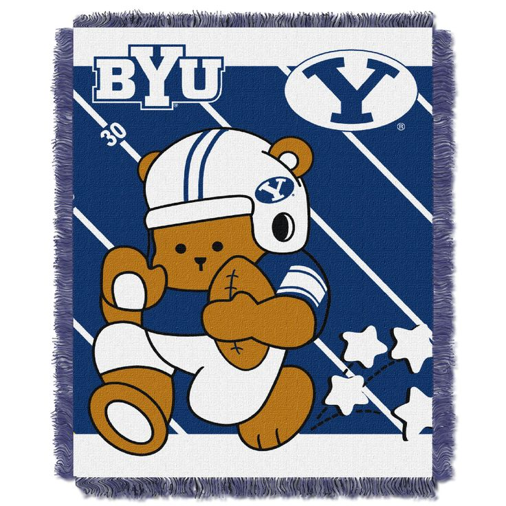 BYU College Baby 36x46 Triple Woven Jacquard Throw - Fullback Series
