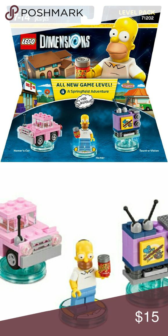 LEGO Dimensions Level Pack-The Simpsons NEW AND FACTORY SEALED :) GAMING ACCESSORY  Specifications- Gender: Unisex Age Range: 7 to 1 Year's Character: Cartoon Count:	98 pcs Video Game Platform: Universal Manufacturer Part #883929463855 Publisher: Warner Bros. Interactive Entertainment Inc.  *Final Sales and No Returns Warner Brothers Other