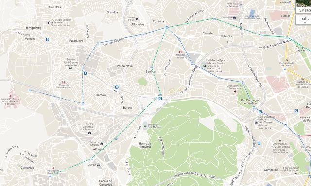 Central Coffee: Metro de Lisboa: Expansão =São criadas 10 novas estações, 7 na linha verde (Carnide, Pontinha, Pedralvas, Benfica, Alfragide, Portela, Carnaxide) e 3 na linha Azul (Reboleira, Damaia, Hospital). De salientar a existência de duas novas interfaces com a CP (Reboleira e Benfica) e uma nova entre a linha azul e linha verde (Pontinha).  População das freguesias (censos 2011) beneficiadas pela expansão, sem contar com o efeito de rede na ligação à CP