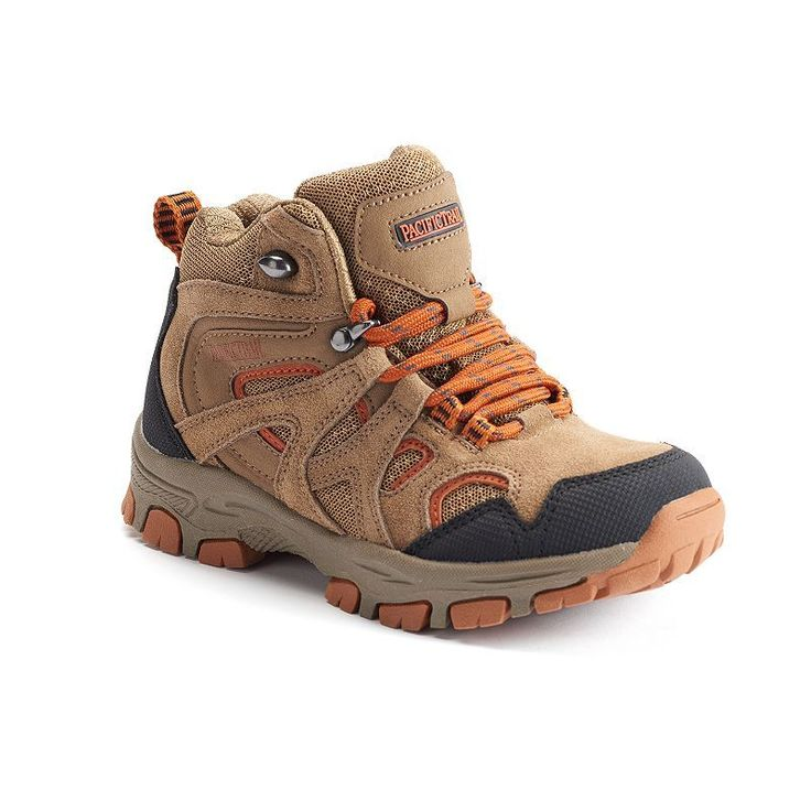 Pacific Trail Diller Light Boys' Hiking Boots, Boy's, Size: 10 T, Med Brown