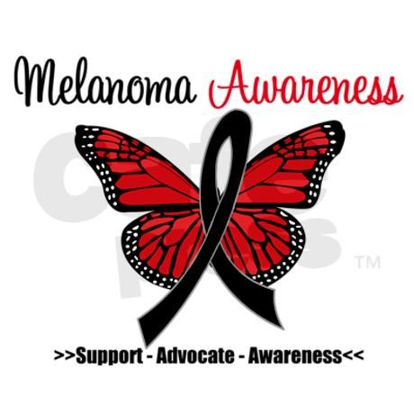 Black is the awareness color for melanoma and orange is the color for skin cancer.