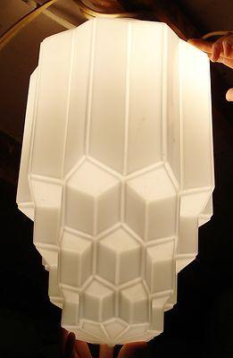 59 best vintage hotels restaurants images on pinterest details about vtg huge 20 art deco skyscraper theater ceiling lightlamp shade white glass mozeypictures Images