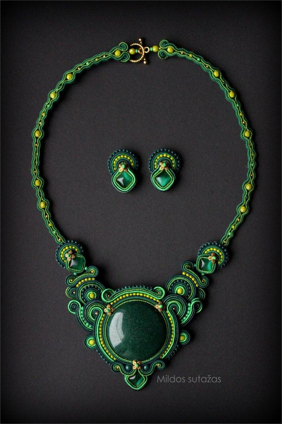Handmade jewelry set - necklace and earrings