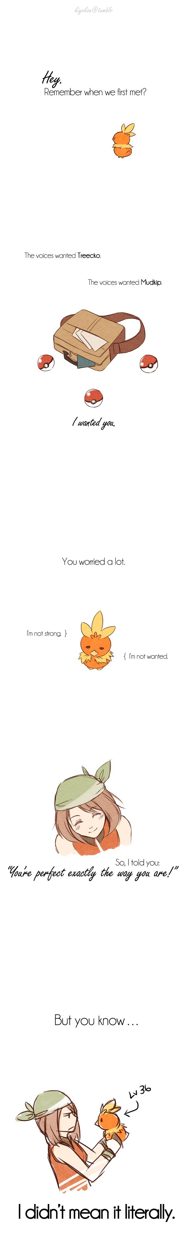 hahah, she wouldn't like my level 100 pichu and pikachu then.