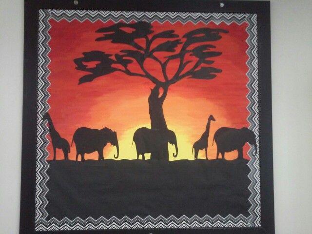 African safari bulletin board in my classroom this year                                                                                                                                                     More