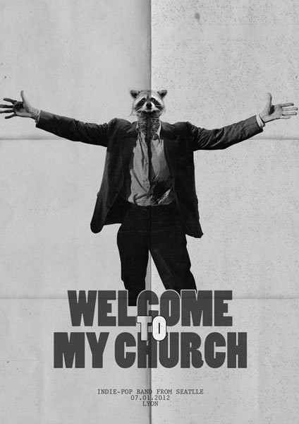 "Rock Band Poster ""Welcome to My Church"""