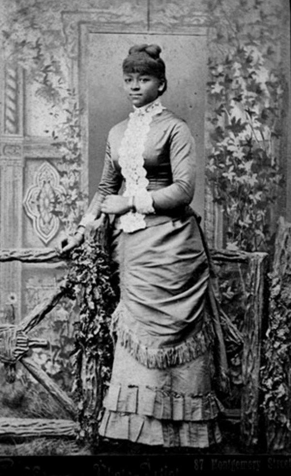 THE BLACK VICTORIANS | 1880sStudio portrait of a Victorian era woman of color, identity unknown.