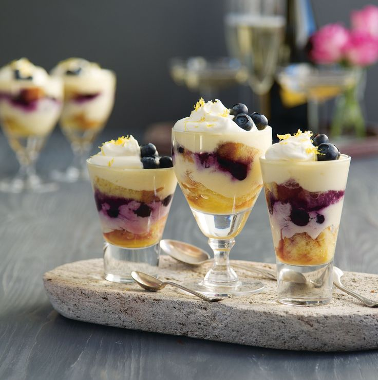 Mini limoncello and blueberry trifles recipe from Little Italy by Nicole Herft | Cooked