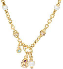 "Judith Ripka Sterling &_14K Clad 17-3/4"" Diamonique Necklace"