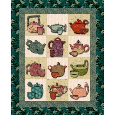 Welcome to our 2012 Free BOM project! This charming little wall hanging is perfect for the tea lover!
