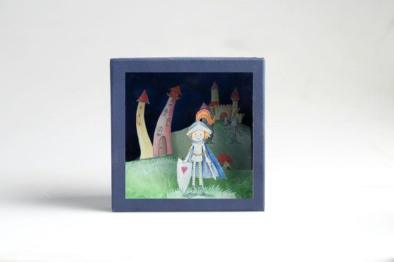 O Brave Knight Diorama in a box with cutout paper by boxdiorama