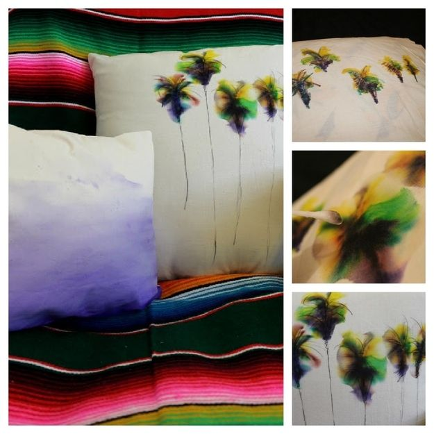 Decorate a pillow with sharpies and rubbing alcohol. I have done this before, and it is totally cool!