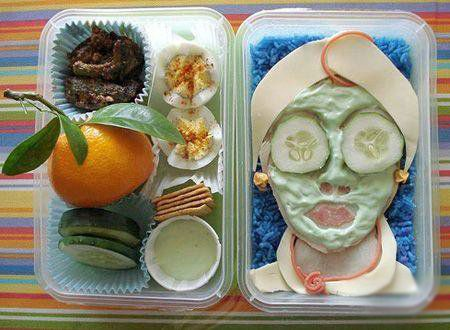 Anyone want a facial for lunch??: Faces Masks, Spa Day, Spa Treatments, Lunches Boxes, Boxes Art, Boxes Lunches, Spa Party, Foodart, Food Art