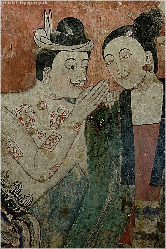 โบสถ์วิหารของ วัดภูมินทร์ จิตรกรรมฝาผนัง ปู่ม่าน ย่าม่าน กระซิบรักบันลือโลก