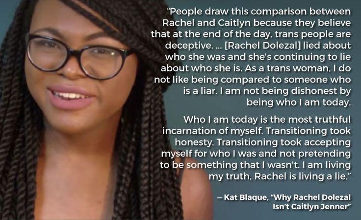 A black trans woman explains changing gender vs. changing race.  Kat Blaque