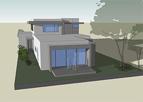 The MODERN is a dynamic contemporary home with three bedrooms and a study.
